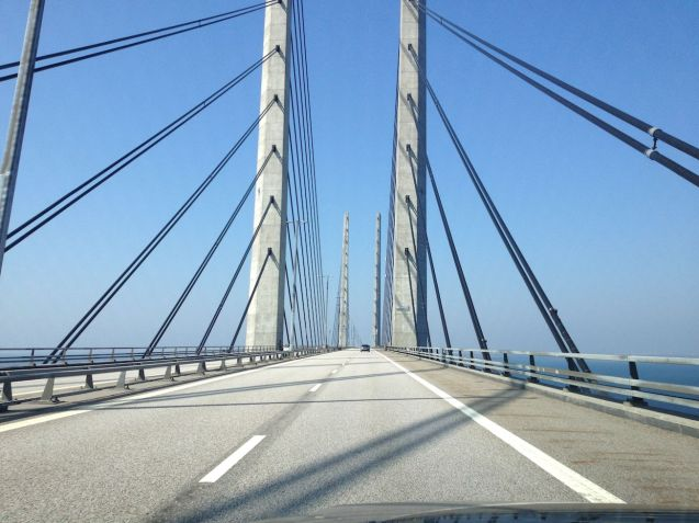 The views from the Oresund Link are breath-taking, and so is the toll, currently €46. Scandlines passengers from Germany can buy a combined ticket for €77, a saving of at least €8. Drivers determined to go the lngest way possible can drive the entire way to Norway on the E20 via Kolding but must also contend with the €18 toll on the Storebaelt bridge as well as an extra 100 miles.