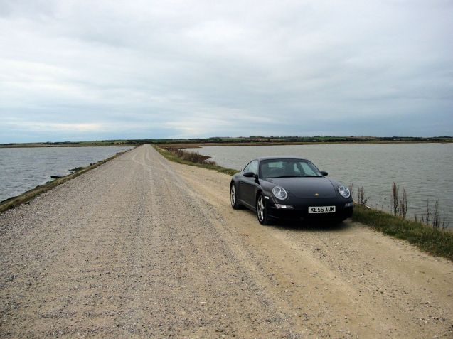 Lost in Limfjorden: drivers don't have to drive all the way to Norway to find gravel tracks criss-crossing fjords (though Limfjorden, despite the name, is not strictly speaking a fjord - it certainly isn't surrounded by towering cliffs - it's actually a long thin inlet which completely separates the top of the Jutland peninsula from the rest).
