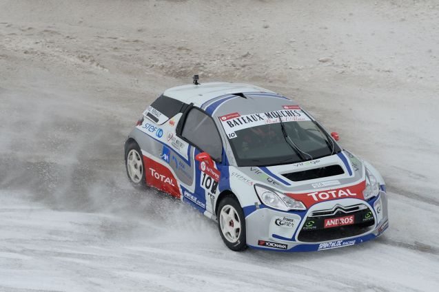 The Andros Ice Racing Trophy kicked off yesterday at Val Thorens in the French Alps. Guest star of the two day meet is nine time World Rally Champion Sebastien Loeb, alongside series regular and former F1 driver Olivier Panis. Both struggle however against four time recent championship winner Jean-Philippe Dayraut who qualified on pole and won the opening race yesterday. Panis was third and Loeb seventh. Competing manufacturers include Mazda, Mini, Citroen DS, Renault, Toyota and Dacia. The seven date championship pretty much covers all the country's mountainous regions. It calls next in Andorra then Alpe d'Huez, Isola 2000, Lans en Vercors and Clermont Ferrand before the finale at Saint Die des Vosges in eastern France on 7 February. See TropheeAndros.com for more.