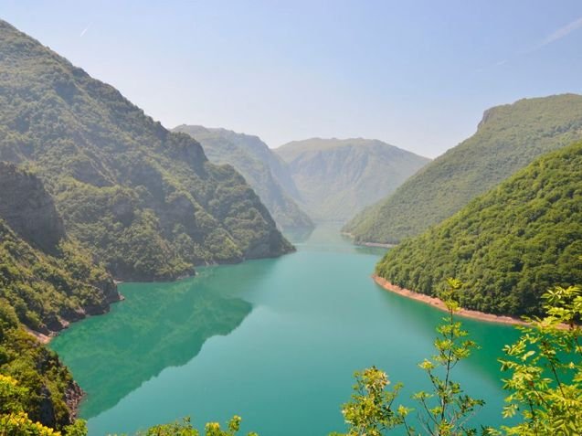 Piva Canyon, Montenegro: the road along the top of the Mratinje Dam - at 220m of the largest in Europe, a location from the film Force 10 from Navarone – is to be upgraded as part of an EU project to improve links to Bosnia it was announced yesterday. @theBlondeGypsy drove this road on the way to Sarajevo and tells us, 'It's a lovely spot!' Specifically, €3.5m from the Western Balkans Investment Framework will pay for initial studies on the 17 mile section of E762 from Pluzine to Scepan Polje on the border, where the Piva and Tara rivers meet to form the Drina, in the shadow of Maglic (7828ft), Bosnia's highest mountain.