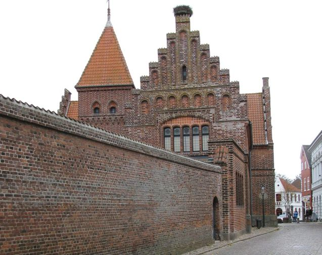 Ribe, Denmark's fastidiously preserved oldest town. This is the family friendly Den Gale Arrest Hotel - 'the old prison' - where rooms start at €77.