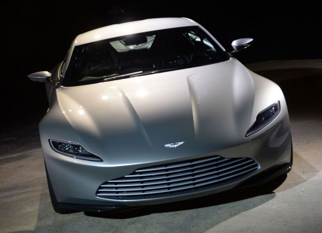 James Bonds new car: Aston Martin DB10. Not expected to reach showrooms until 2016 but will be in cinemas this time next year.