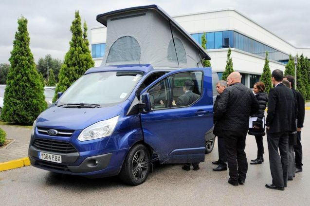 Wellhoue Leisure's Ford Terrier at the Ford Otosan factory in Istanbul, Turkey. Photo @WellhouseCamper