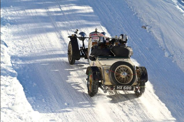 No ABS brakes, xenon headlights to mark the way - or even bodywork to shield driver's legs from the icy wind - the Planai Classic is mid-way through its traditional three day early New Year run on the mountain roads of Styria in central Austria, around Schladming, Grobming and Planai. See Planai-Classic.at. Morelater. Photo: BMW 340.