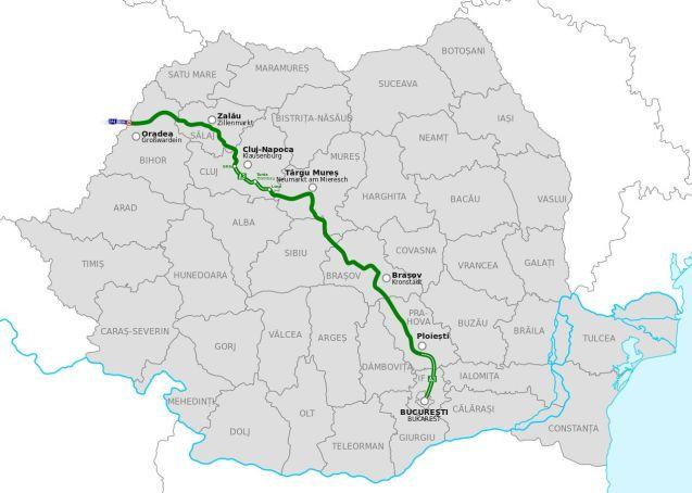 A3 Transylvania Highway. Picture via Wikipedia.