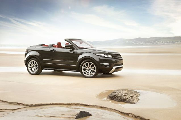 Evoque Convertible Concept car as revealed at the Geneva Motor Show, March 2012.