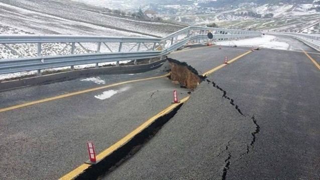 The Italian prime minister is much enervated today over the collapse of a viaduct in Sicily on New Year' Eve just six days after it opened.