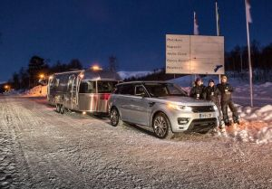 They made it: after ten days, the mad people towing an Airstream caravan to the Arctic Circle arrived