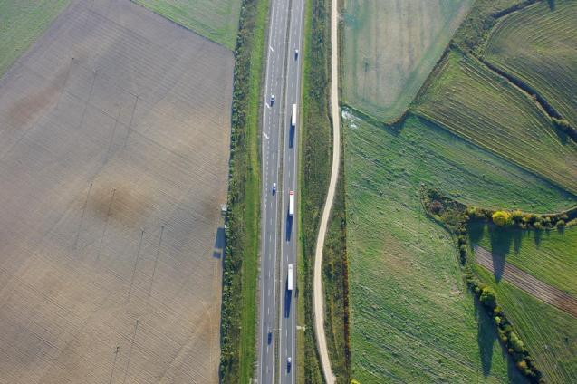Poland: a stretch of Berlinka, the original Berlin-Konigsberg (Kaliningrad) autobahn. More later.