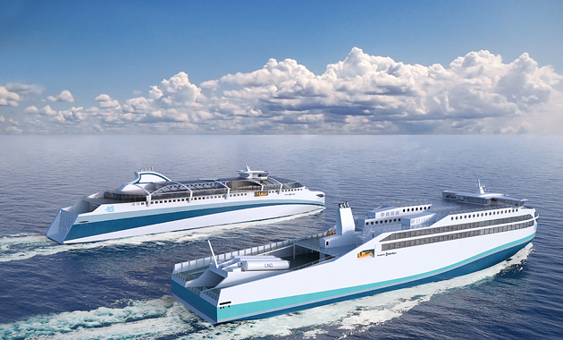 Rolls-Royce doesn't just design engines. Its Marine division has an interest in designing entire ships. It has recently been thinking about the 'ferry of the future'. More later.