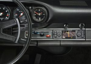 Porsche has gone to the trouble of designed and building a retro satnav to fit, in every sense, its early models. More later.