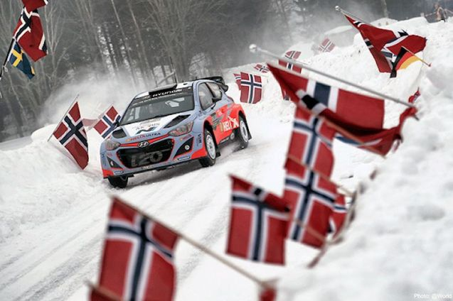 It's Rally Sweden this weekend, in and around Karlstad at the top of Lake Vanern in the south. see RallySweden.com or follow @RallySweden