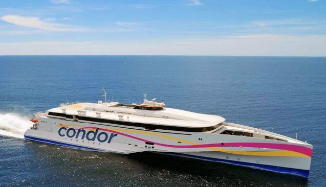 A big day tomorrow for Condor Ferries as it launches its brand new Condor Liberation ship in Jersey. The event is expected to attract lots of spectators so passengers are warned to turn up in plenty of time, at least one hour for drivers. From next week, all journeys between the Channel Islands and the UK will be on the new ship. Geek note: despite looking like a three-hulled trimaran, Liberation is actually a stabilised monohull.