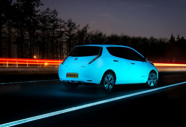 Sales of electric vehicles rose by 36% in Europe in 2014 to 75,331 units. The UK lead the way with a 300% increase followed by Germany (up 70%) and France (up 30%). However, almost 20,000 of the registrations were in Norway alone. Meanwhile, the final quarter 2014 saw a 7.7% fall in sales. Pure battery cars like the Nissan Leaf above – picture on the N329 'Glowing Highway' at Oss in the Netherlands – took half of sales in the final three months (also up 50% on Q4 2014) while range-extender and plug in hybrids were down 35% on the previous year. Source: European Automobile Manufacturers Association (ACEA).