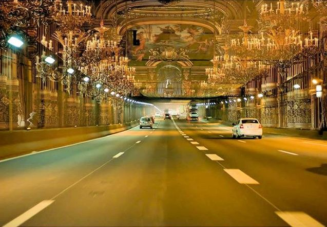 Renaud Donnedieu de Vabres wants to project images of Versailles inside the A1's Tunnel de Landy at Seine Saint Denis. Photo via Facebook.