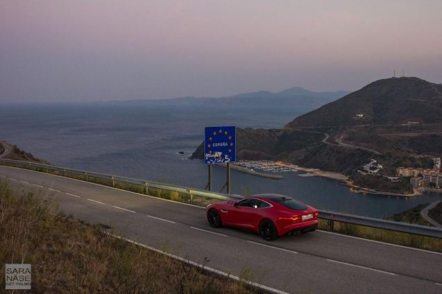 Adventurer Sara Nase crosses the Spanish border by D914 Route d'Espagne. See more at GetPalmd.com, or @GetPalmd