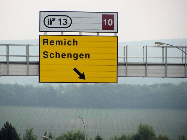 Schengen in south east Lxembourg, symbolically on the French and German borders where the