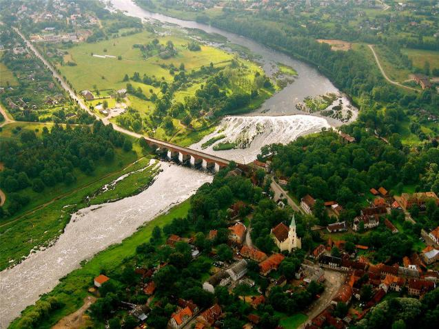 Random Latvia: Kuldīga is the pearl of Latvia - distinctive architecture, the River Venta with the widest waterfall ledge in Europe.