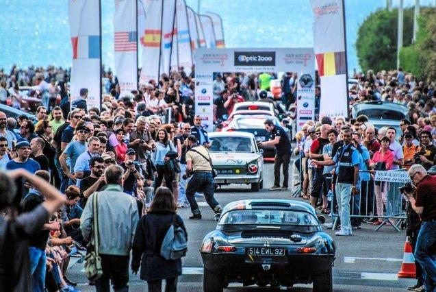 The Tour Auto finish at Cite de l'Ocean in Biarritz, in sight of the Atlantic.The Tour Auto finish at Cite de l'Ocean in Biarritz, in sight of the Atlantic.