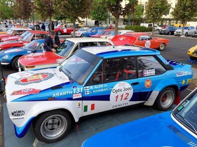Michel Chabran and Eric Mallen in 1978 Fiat 131 Abarth