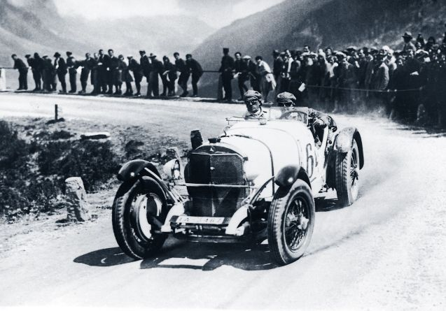 Rudolf Caracciola at the wheel of a Mercedes-Benz SSK on Klausenpass in August 1930. Photo via Daimler.com. More later.