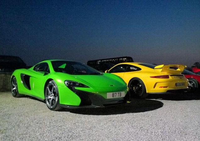 @Shmee150's Mantis Green McLaren 650S Spider might not be to everybody's taste but there's no denying it makes a striking combination alongside @GetPalmd's Racing Yellow Porsche 911GT3. The two met up at the weekend at the Cars and Coffee event in Brescia, northern Italy. Schmee is on the almost month long #WheresShmee tour, heading to Top Marques in Monaco next, whereas @Getpalmd is off down to near Sienna in Tuscany via the famous Passo della Futa.