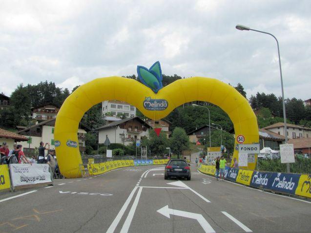 Fondo on Mendola Pass (1363m) near Bolzano.Not used on Giro this year but popular with bikers the same.