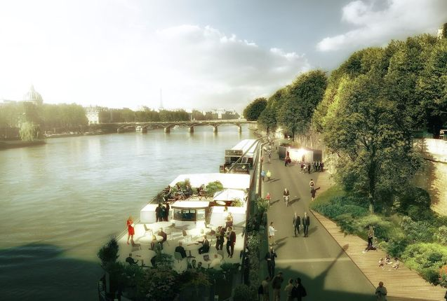 More anti-car controversy in Paris today when Mayor Anne Hidalgo proposed a new pedestrian zone on the right bank of the Seine. When joined with the existing summer-only Paris Beach on the left bank, the car-free zone would stretch 'from the Place de la Bastille to the Eiffel Tower'. There are two proposals, the first a 3.3km stretch from Tuileries Garden to the Port d'Arsenal, the second much shorter, from the Place du Chatelet to Pont de Sully. Both are out for consultation this year. Driver campaign group '40 Million Automobiliste' has already launched a petition opposed. Artist's impression LUXIGON.