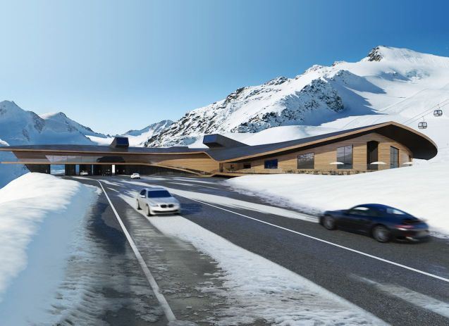 A futuristic new toll station - among other things - for Austria's Timmelsjoch alpine road. More later.