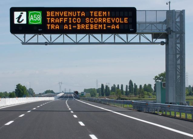 The Tangenziale Est Eterna Milano (TEEM) - east outer ring road - opened as planned on Saturday. More later.