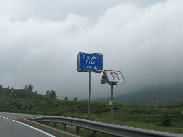 Switzerland-Italy Simplon Pass.