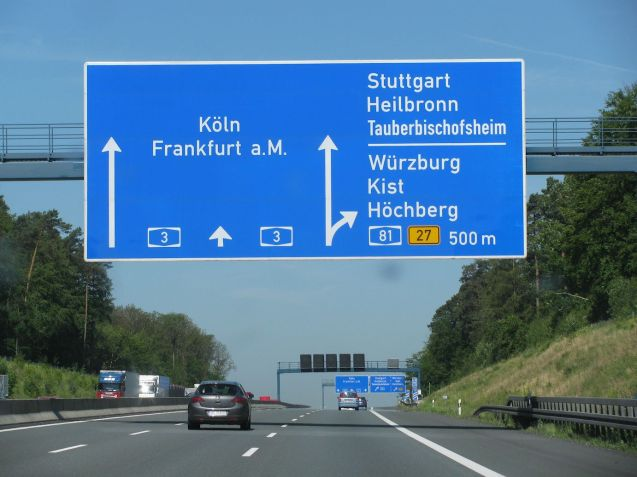 The cross country A3 - from Cologne in the west to the Austrian border in the south east - is one of Germany's busiest roads. Avoid it this summer if you can, especially westbound.