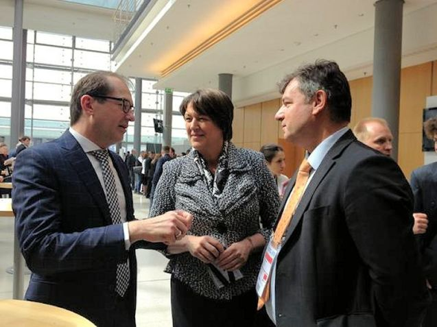 Resounding slap: German Transport Minister Alexander Dobrindt (left) with EU Transport Commissioner Violeta Bulc and Slovenian Minister of Infrastructure, Dr Peter Gašperšič. Photo @Bulc_EU