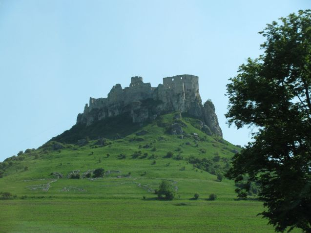 Spis Castle seen from the under construction D1 motorway in eastern Slovakia, just a few miles from Levoca, a UNESCO World Heritage village. We stopped for coffee at the Stela Hotel in Levoca