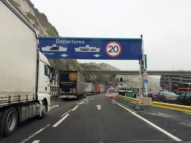 Major disruption on the Channel this morning during MyFerryLink blockade.