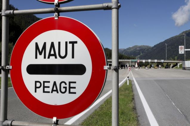 Maut is the German word for road toll (the Austrian name for the toll sticker is Pickerl). Peage - pronounced pay-arge - is the almost universal word work toll booths. Vignette - pronounced vin-yet - is also widely recognised, even in the Balkans.