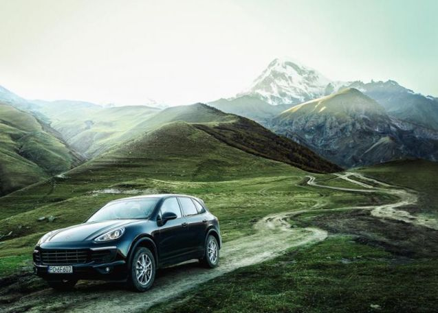 Porsche's in-house Christophorous magazine takes a Cayenne on a road trip from Trabazon in eastern Turkey to Baku, capital of Azerbaijan, via the 'Lord of the Rings' landscape of the S2 Georgian Military Road through the Caucasus mountains. 'We quickly learned that in Georgia, even if your road is marked on the map with a thick red line, it means nothing more than that the road exists… the further we drive into the countryside, the worse the roads become. They start off well paved, then we see a few potholes here and there, and suddenly we're on a bumpy gravel road which soon begins climbing and winding its way through the Meskheti mountain range.'