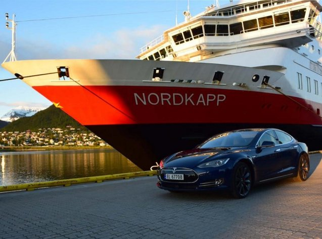 Sail n a five day cruise ferry from Bergen to Kirkenes on the Russian border via Nordkapp. More later. Photo @TeslaMotors
