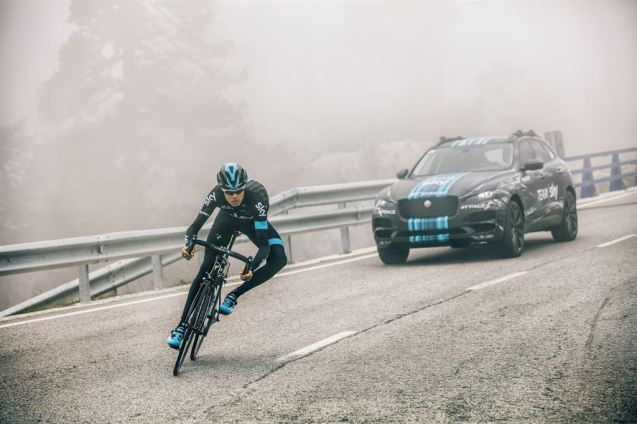 New Jaguar F-PACE prototype to escort Team Sky