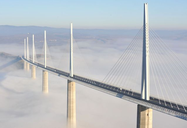(Separate) bridge and tunnel tolls are also very expensive, currently €43.50 one-way for a car at the Mont Blanc and Frejus Tunnels (or €54.30 return). In contrast, the spectacular Millau Bridge is just €9.40 in the summer (€7.50 in the off-season; 20% discount with the Liber-T toll tag).