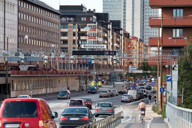 Stockholm Congestion Zone, photo via TransportStyrelsen.se