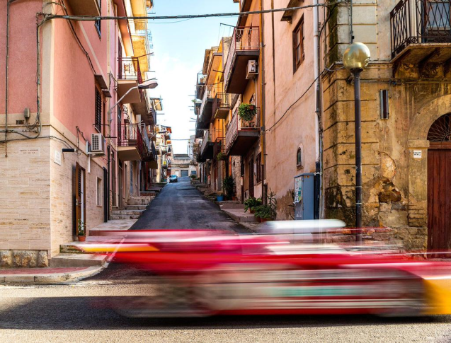 Red Bull driver Daniel Ricciardo recreates the Targa Florio, in an Alfa Romeo. More later.