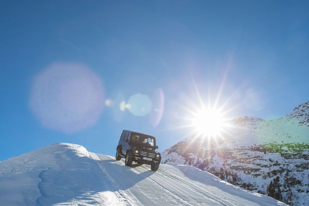 Off-roading in wintry Austria. More later.