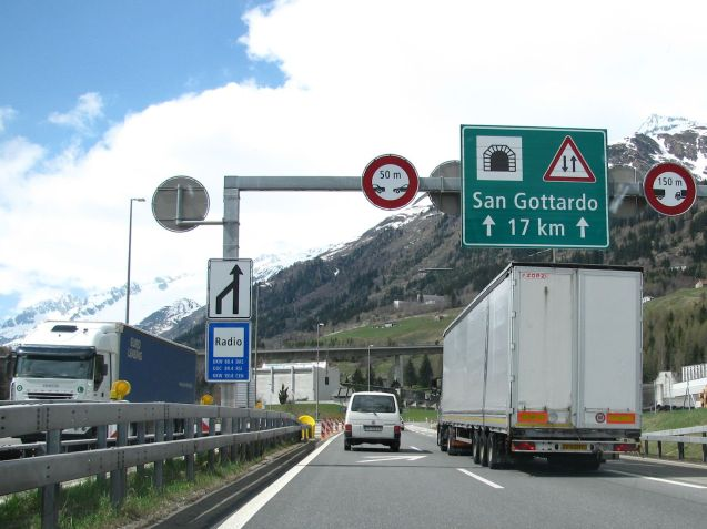 Northbound into the Gotthard Tunnel. Photo @DriveEurope.