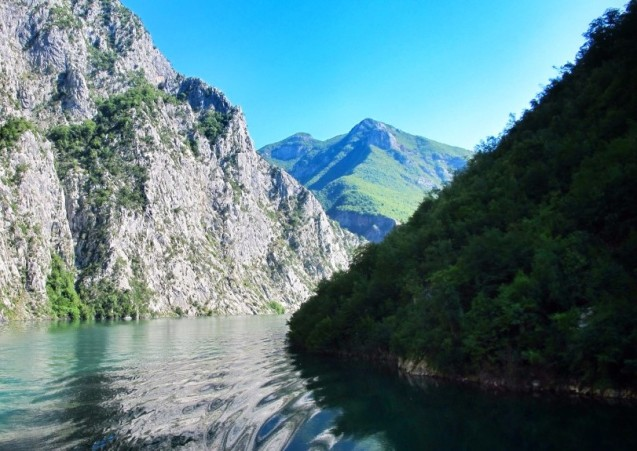 'One of the World's Classic Ferry Trips', Lake Koman Albania. And ridiculously cheap too. More later.