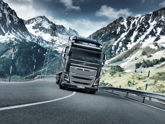 The most powerful truck currently on sale, Volvo's FH16 750. More later