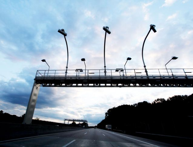 Electronic road toll gantry, Austria. Photo ASFINAG