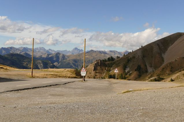 France's Col d'Izoard closes six weeks late. More later.