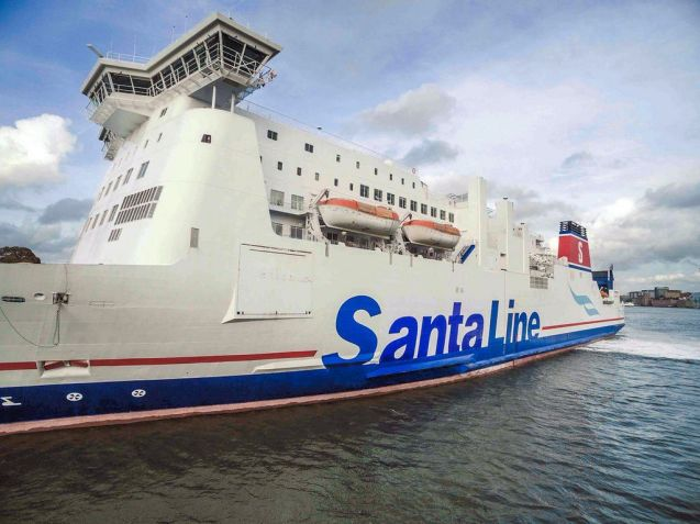 Pushing the boat out for Christmas: Stena Line rebrands Santa Line for the holidays.
