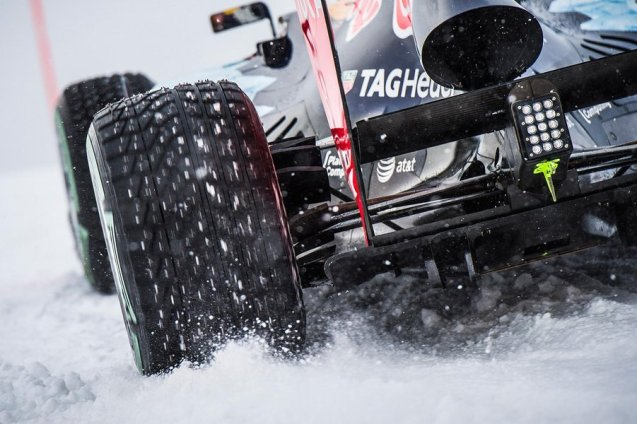 Toro Rosso Formula 1 star Max Verstappen will attempt an 'extremely ambitious' downhill stunt on a Kitzbuhel ski slope on Thursday. The 18-year old Dutchman will pilot a specially adapted 2011 championship winning Red Bull RB7 - sporting studded tyres, a raised ride height and interim 'snow livery' featuring new sponsors TAG Heuer and Puma - on the Streif ski course in Hahnenkamm, more than 1600m high up in the Austrian Alps. The action kicks off at 11:00CET. See more.